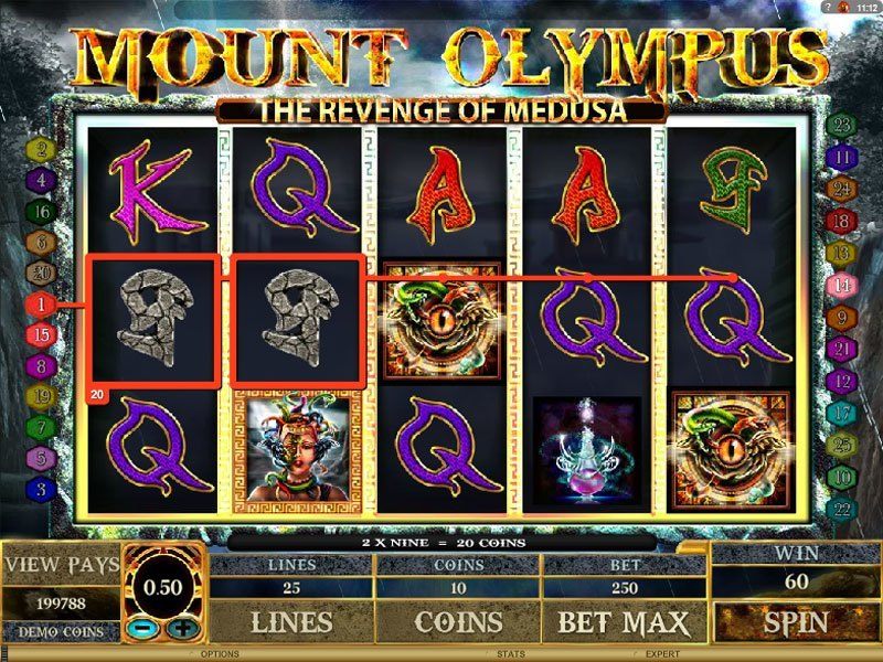 Обзор слота Mount Olympus: The Revenge Of Medusa